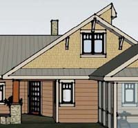 The front elevation of the Rise plan. Click here to view more of the design!
