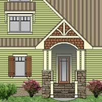 Sunny Dreams front elevation. Click here to view more of the design!